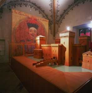 Castello Estense Ferrara (model of castle)