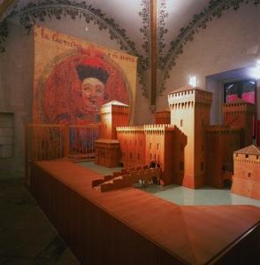 Castello Estense Ferrara (model of castle)