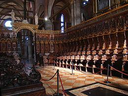 choir stalls Santa Maria Gloriosa dei Frari venice