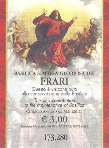 Frari ticket