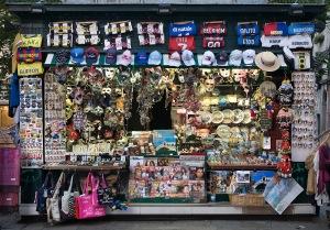 A street souvenir shop in Venice, Italy 2009