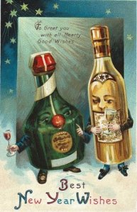 Vintage-New-year-wine