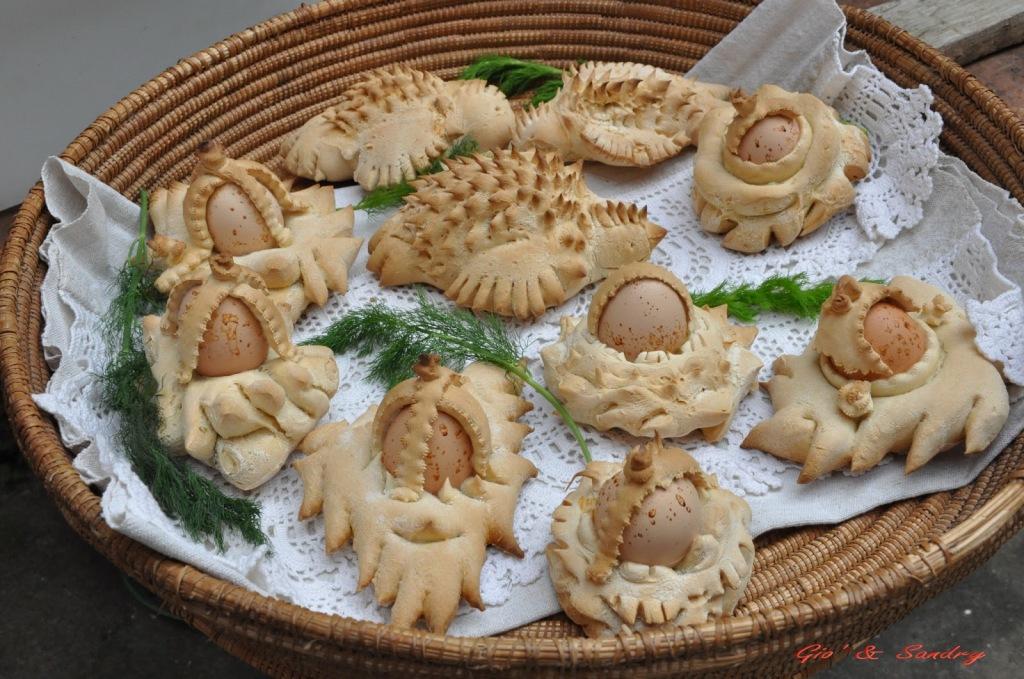 easter bread sardinia